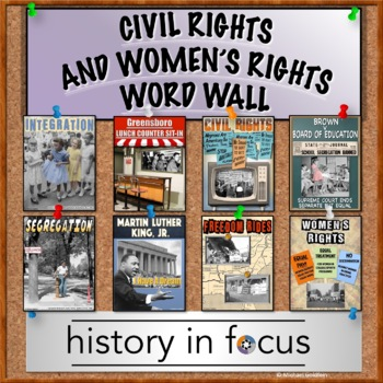 Civil Rights and Women's Rights Word Wall