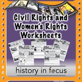 Civil Rights and Women's Rights Worksheets
