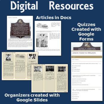 Civil Rights Movement   1960's   Vietnam War Digital-Printable Distance Learning