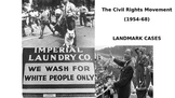 Civil Rights court cases up to the murder of emitt till