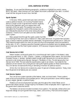 Civil Service System, AMERICAN GOVERNMENT LESSON 58 of 105, Fun Contest!