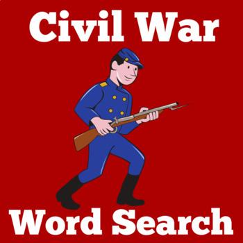 Civil War Activity | Civil War for Kids | Civil War Word Search