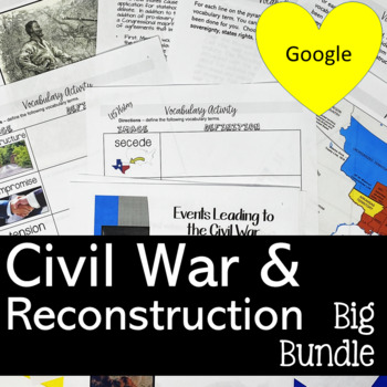 CIVIL WAR AND RECONSTRUCTION ACTIVITIES AND GAMES BUNDLE