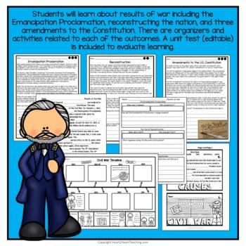 Civil War Complete Unit with Abraham Lincoln, Harriet Tubman, Clara Barton