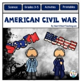 American Civil War Unit with Leveled Passages, Activities, Vocabulary & Test