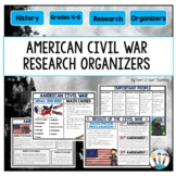 Civil War Organizers for Causes, Battles, Results  - 12 pages!