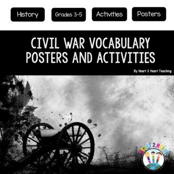 Civil War Vocabulary Posters & Activities