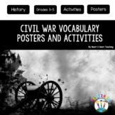 Civil War Vocabulary Posters & Activities