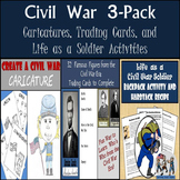Civil War Activities: Trading Cards, Backpack Activity, & Hardtack Recipe