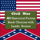 Civil War Books - 41 Historical Fiction Book Choices with Lexile Scores
