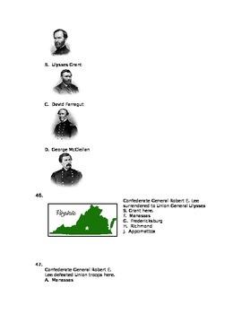Civil War 50 question test