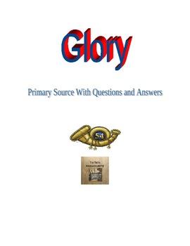 Civil War: 54th Massachusetts primary source related to movie Glory