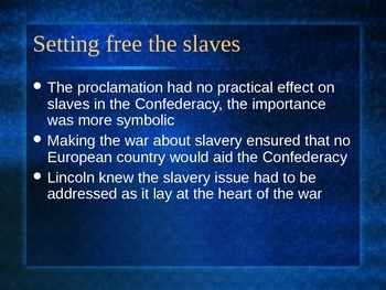 Civil War # 8 Emancipation Proclamation and Battle of Chancellorsville