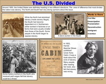 Civil War - A Fourth Grade SMARTBoard Introduction