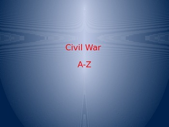 Civil War A-Z Project Powerpoint