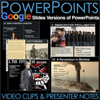 Civil War PowerPoint with Presenter Notes