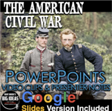 Civil War PowerPoint with Video Clips + Presenter Notes