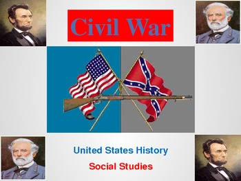 Civil War Activities and Powerpoint - United States History