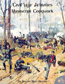 Civil War Activities for Kids: Manuscript Copywork