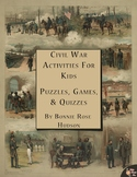 Civil War Activities for Kids: Puzzles, Games, & Quizzes (Plus TpT Digital)