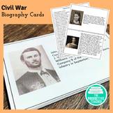 Civil War Activity: Biography Cards