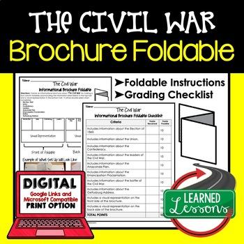 Civil War Activity, Civil War Foldable