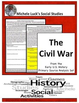 Civil War American Document Analysis Activity