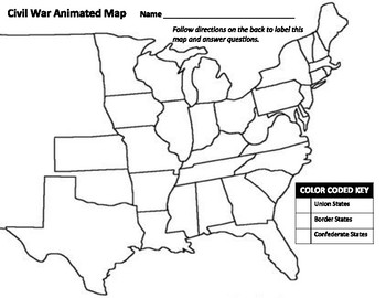 Civil War Animated Map by Andrew Waller | Teachers Pay Teachers on