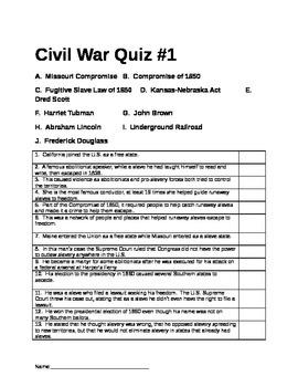 Civil War Assessments