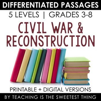 Civil War BUNDLE: Differentiated Reading Passages