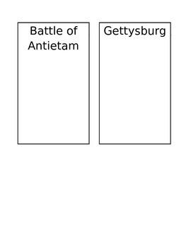 Civil War Battle foldable