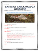 Civil War - Battle of Chickamauga - Webquest with Key