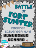 Civil War - Battle of Fort Sumter Internet Scavenger Hunt Crossword Puzzle