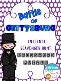 Civil War - Battle of Gettysburg Internet Scavenger Hunt Crossword Puzzle