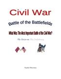 Civil War: Battle of the Battlefields Research Project