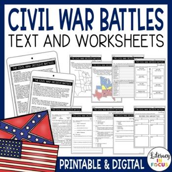 Civil War Battles - Common Core Lessons and Activities (Ba