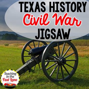 Civil War Battles Fought in Texas Jigsaw Method Activity