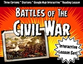 Civil War Battles Lesson Set: Stations, Google Maps & Face-Off Activity Game