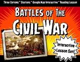 Civil War Battles Lesson Set: Stations, Google Maps & Face