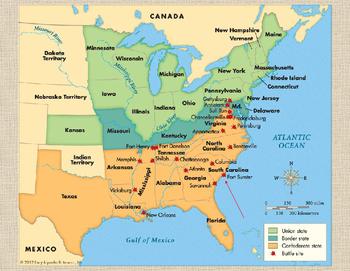 Civil War Battles: Power Point with Slide Notes