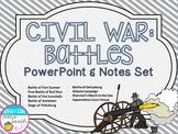 Civil War Battles PowerPoint and Notes Set