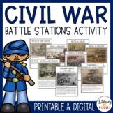 Civil War Activity | Battle Stations | Printable & Digital