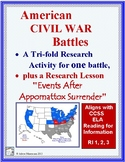 CIVIL WAR BATTLE  Tri-fold Research Report