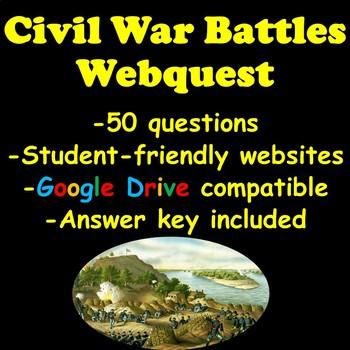 Civil War Battles Webquest