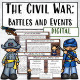 Civil War Battles and Events   Digital Lessons and Activities
