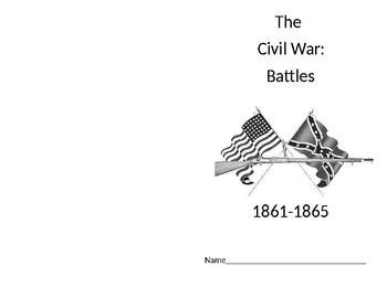 Civil War Battles foldable