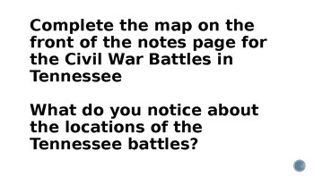 Civil War Battles in Tennessee PowerPoint