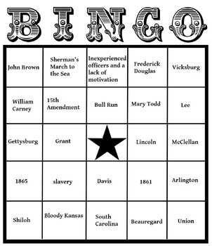 Civil War Bingo