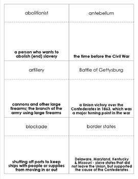 Civil War Bingo