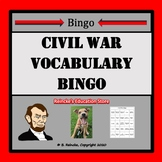 Civil War Vocabulary Bingo (30 pre-made cards!)
